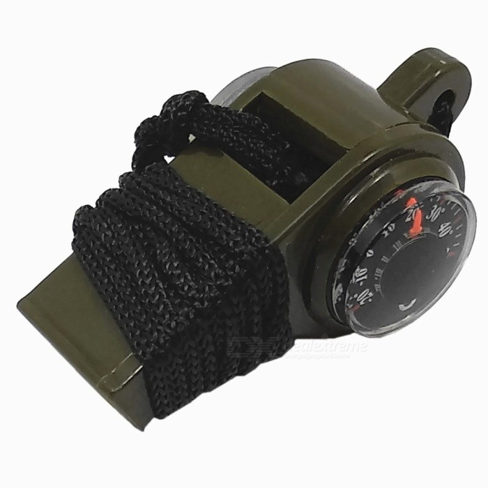 3-in-1 Lifesaving Whistle with Thermometer / Compass / Rope for Outdoor - Army Green for sale in Bitcoin, Litecoin, Ethereum, Bitcoin Cash with the best price and Free Shipping on Gipsybee.com