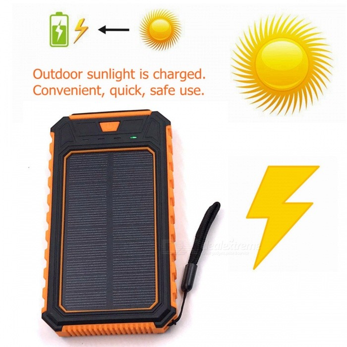 ZHAOYAO-10000mAh-DC-5V-Dual-USB-Solar-Power-Bank-Charger-with-2835SMD-12LEDs-White-Light-and-Strap-Orange