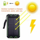 ZHAOYAO-10000mAh-DC-5V-Solar-Powered-Mobile-Power-Bank-Dual-USB-Output-with-White-Emergency-Light-Flashlight-Compass-Green
