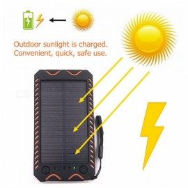 ZHAOYAO-10000mAh-DC-5V-Solar-Powered-Mobile-Power-Bank-Dual-USB-Output-with-White-Emergency-Light-Flashlight-Compass