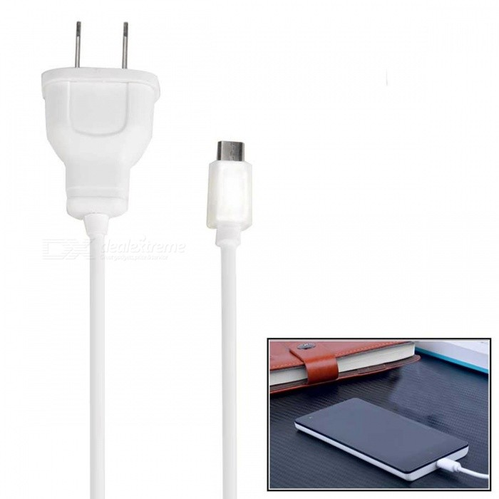 5V 1A Micro USB US Plug Charger for Android Devices - White (AC 100-240V)AC Chargers<br>ColorwhitePower AdapterUS PlugModelN/AMaterialABSQuantity1 pieceInput Voltage100-240 VOutput Current5V, 1 APacking List1 x US plug charger<br>