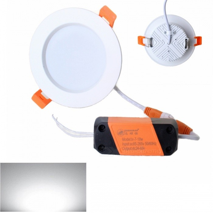 ZHISHUNJIA 12W 900lm 24-LED 5730 SMD White Light Ceiling Lamp with Driver (85~265V)Ceiling Light<br>Form  Color12W white lightColor BINNeutral WhiteModelEK-P403Quantity1 setMaterialAluminium alloyPower12WRated VoltageAC 85-265 VChip BrandOthers,LEDChip Type5730Emitter TypeLEDTotal Emitters24Theoretical Lumens1080 lumensActual Lumens900 lumensColor Temperature6000KDimmableNoBeam Angle180 °WavelengthNOExternal Diameter12 cmHole diameter8 cmHeight3.5 cmPacking List1 x Lamp with Driver<br>
