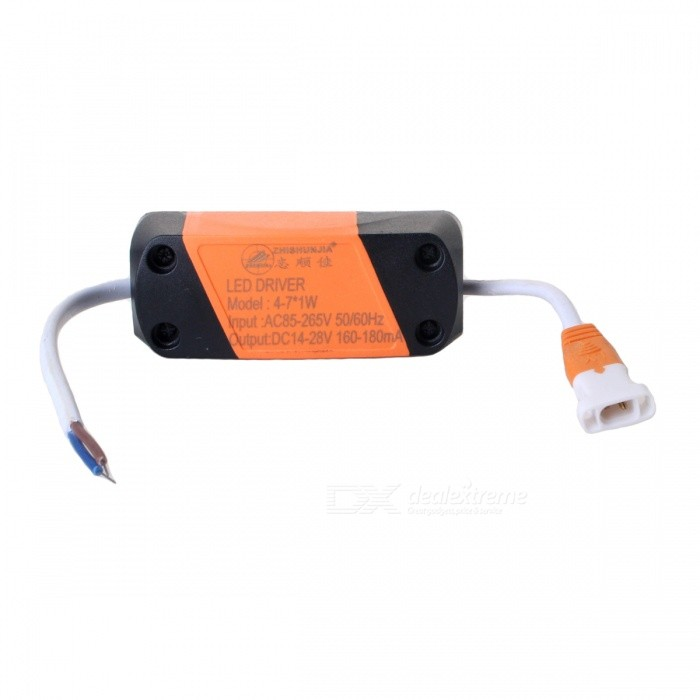ZHISHUNJIA 4~7W External LED Source Power Supply Driver, AC 85~265V / DC 14~28VCeiling Light<br>Form  ColorLED DRIVERColor BINMonochromatic 4-7WModel4-7WQuantity1 pieceMaterialAluminium alloyPowerOthers,Monochromatic 4-7WRated VoltageAC 85-265 VChip BrandOthers,LEDChip TypeNoEmitter TypeLEDTotal Emitters0Theoretical LumensNo lumensActual LumensNo lumensColor Temperature12000K,Others,NoDimmableNoBeam AngleNo °WavelengthNoPacking List1 x Power Supply<br>