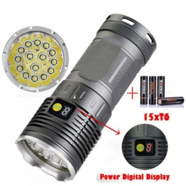 AIBBER TONE Ultra Bright Strong Light T6 15-LED Hunting Flashlight  without Battery
