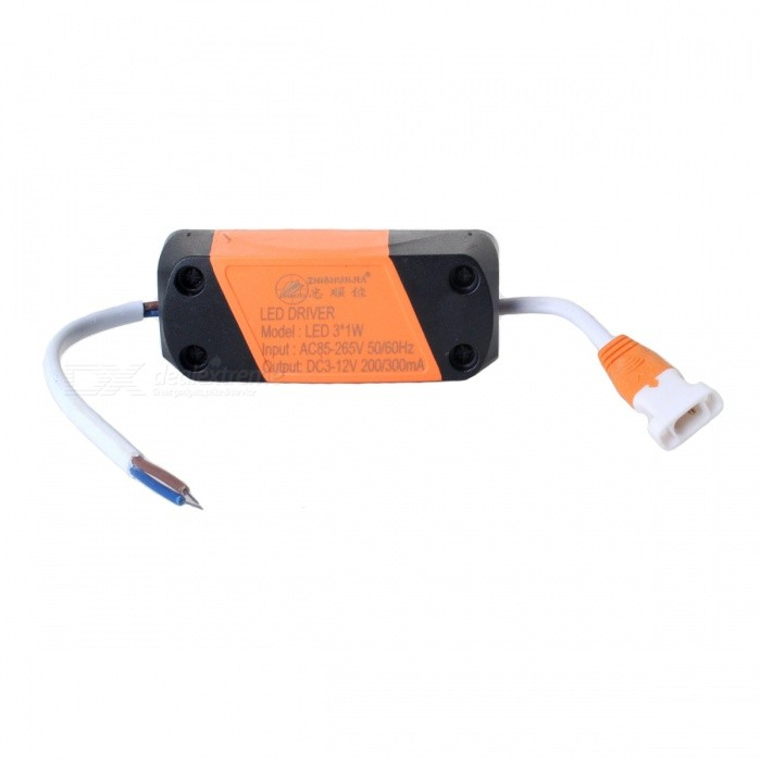 ZHISHUNJIA 3W 3W+3W External LED Source Power Supply Driver, AC 85~265V / DC 3~12VCeiling Light<br>Form  ColorLED DriverColor BINDichroic 3+3WModel3W+3W DichroicQuantity1 setMaterialAluminium alloyPowerOthers,3W+3W DichroicRated VoltageAC 85-265 VChip BrandOthers,LEDChip TypeNOEmitter TypeLEDTotal Emitters0Theoretical LumensNO lumensActual LumensNO lumensColor Temperature12000K,Others,3000K+4500K+6000KDimmableYesBeam AngleNO °WavelengthNOPacking List1 x Power Supply<br>