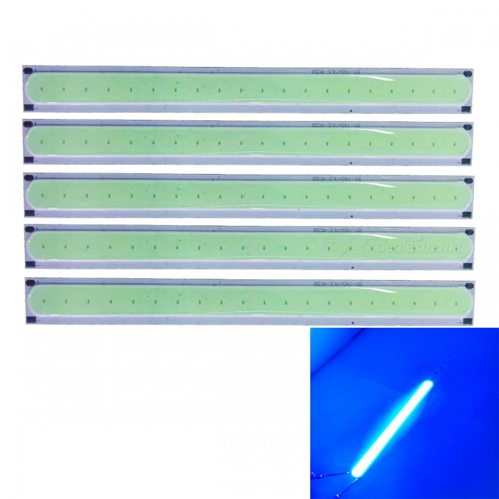 JRLED 140x15mm 4W COB 20-LED Ice Blue LED Module (DC 12V / 5 PCS)