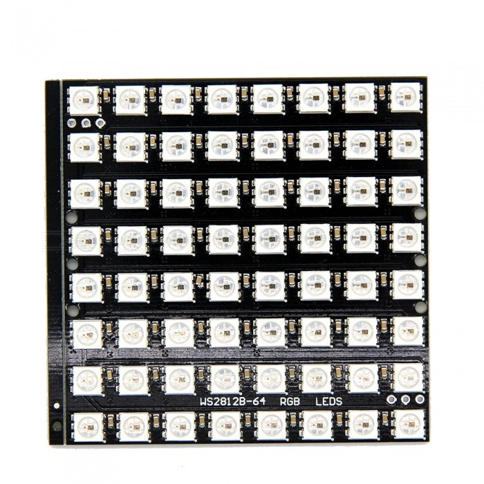 Produino-WS2812B-8x8-64-LED-Matrix-LED-5050-RGB-Full-Color-Driver-Black-Board-for-Arduino