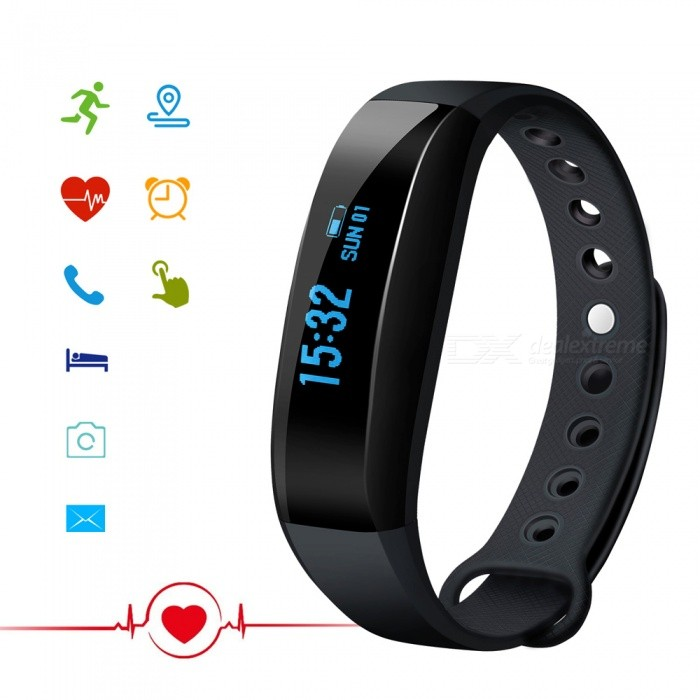 CUBOT V3 0.88 OLED Bluetooth V4.0 Smart Band Bracelet - BlackSmart Bracelets<br>ColorBlackModelCUBOT V3Quantity1 setMaterialMedical-grade TPU + PC + metalWater-proofIP65Bluetooth VersionBluetooth V4.0Touch Screen TypeOthers,OLEDOperating SystemOthers,Nordic51822 Embedded Software SystemCompatible OSCompatible with Android 4.3 and above / iOS 8.0 and above Bluetooth V4.0 smart phonesBattery Capacity80 mAhBattery TypeLi-ion batteryStandby Time7 daysCertificationCE, RoHS, WEEE, MSDS, FCC  UN 38.3Other FeaturesAPP languageGerman, English, Spanish, French, Italy, Russian, ChinesePacking List1 x Band1 x Charging Cable (Micro 5PIN)1 x User Manual<br>