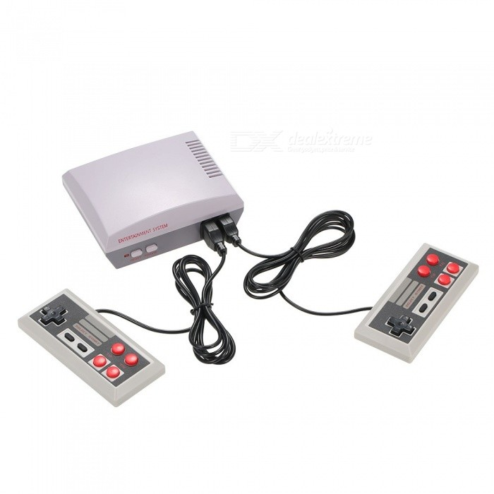 New Mini Handheld Two Button Video TV Game Console with 2 Controllers and Built-in Classical Games for Nes 620 (US Plug)Other Consoles Accessories<br>ColorWhite Grey + US PlugQuantity1 setMaterialABSShade Of ColorWhitePacking List1 x Game Console2 x Game Handles1 x AV Cable1 x Game List1 x AC Electric Power Plug1 x User Manual (including English)<br>