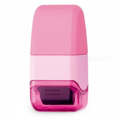 Mini Messy Code ID Security Seal Covering Confidential Roller Stamp - Pink