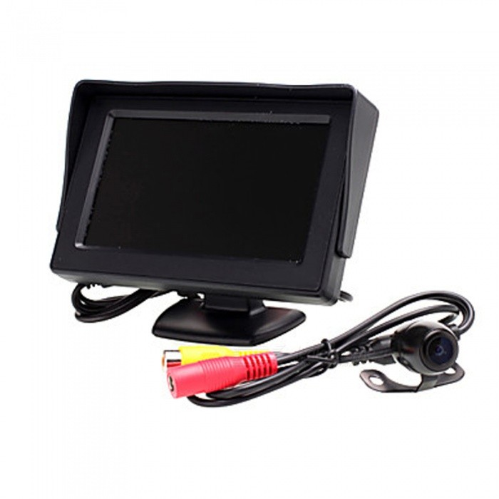 OJADE High-Definition Wide Angle Waterproof CMD Car Rear View Camera with 4.3 Inches MonitorRearview Mirrors and Cameras<br>ColorBlackModel0513Quantity1 setMaterialABSCompatible MakeOthersCompatible Car ModelUniversalStyleInternalPacking List1 x Car Rear View1 x 4.3 Inch Monitor<br>