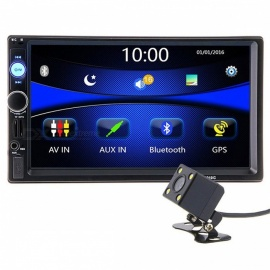 7010G 2 Din 7 Inches HD Car Radio GPS Navigation Player Camera Autoradio, Supports Bluetooth, AUX / USB, MP3 MP5 Stereo FM Audio Europe Maps