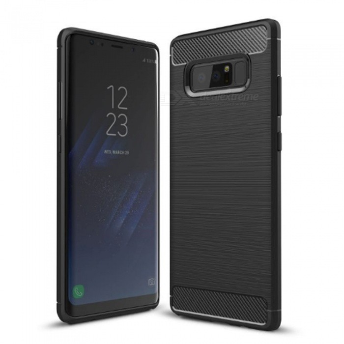 Naxtop Wire Drawing Carbon Fiber Textured TPU Brushed Finish Soft Phone Back Cover Case For Samsung Galaxy Note8TPU Cases<br>ColorBlackModelN/AQuantity1 pieceShade Of ColorBlackCompatible ModelsSamsung Galaxy Note8DesignSolid ColorStyleBack CasesPacking List1 x Case<br>