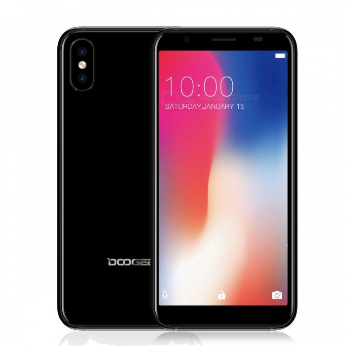 "DOOGEE X55 5.5"" Full Screen IPS HD Android 7.1 3G Phone w/ 1GB RAM, 16GB ROM - Black"