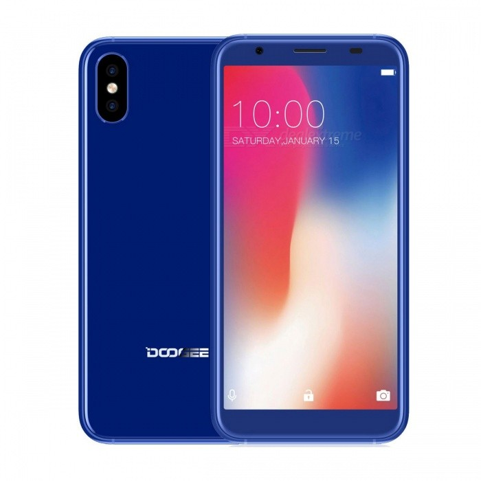 "DOOGEE X55 5.5"" Full Screen IPS HD Android 7.1 3G Phone w/ 1GB RAM, 16GB ROM - Blue"