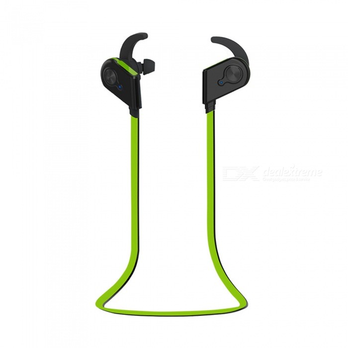 S20 Bluetooth Earphones Sports Running Wireless Headsets - GreenHeadphones<br>ColorGreenBrandOthers,EastorModelS20MaterialPlasticQuantity1 setConnectionBluetoothBluetooth VersionBluetooth V4.1Operating Range10MConnects Two Phones SimultaneouslyYesHeadphone StyleBilateral,Earbud,In-EarWaterproof LevelOthers,SwearproofApplicable ProductsUniversalHeadphone FeaturesPhone Control,Magnetic Adsorption,Noise-Canceling,Volume Control,With Microphone,Lightweight,Portable,For Sports &amp; ExerciseSupport Memory CardNoSupport Apt-XNoBattery TypeLi-polymer batteryStandby Time240 hourMusic Play Time6-8 hourPacking List1 x Earphones1 x USB Cable1 x User Manual<br>