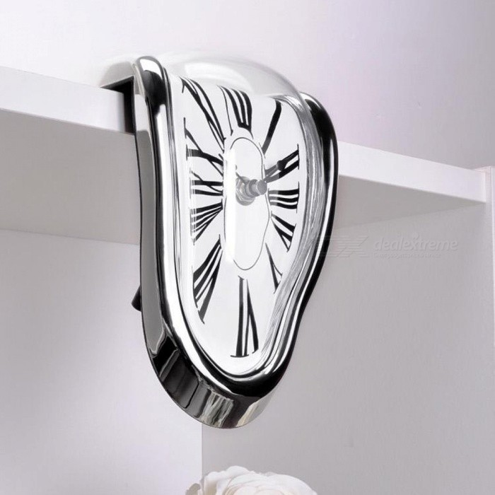 Creative Twist Shape Wall Clock - SilverWall Clocks<br>ColorSilverModel006MaterialPlasticQuantity1 pieceMovement Type25.63Battery included or notNoBattery Number1Packing List1 x Clock<br>