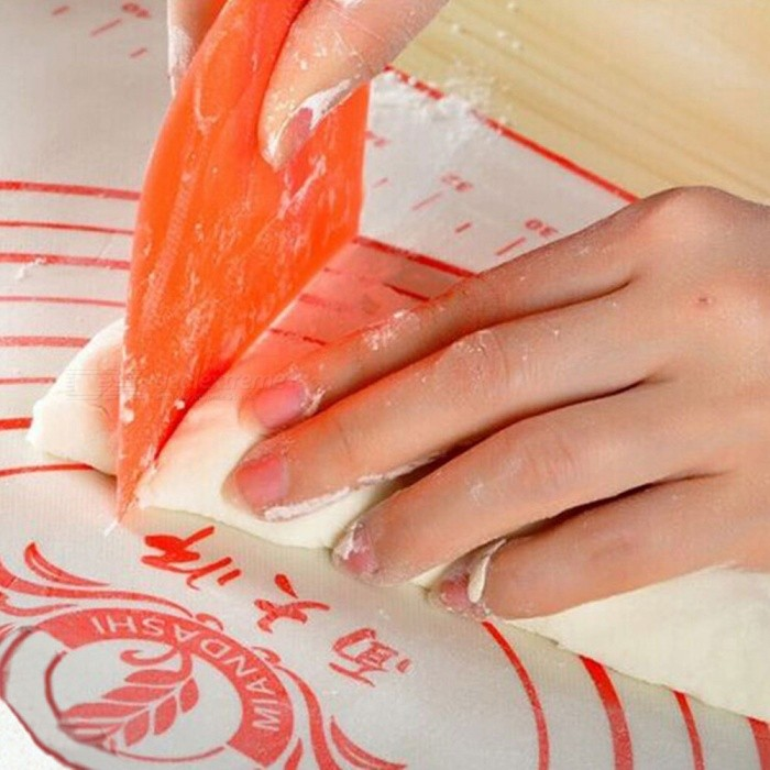 Creative Baking Tool Cutting Panel Knife for Bread Noodle - OrangeSilicone Supplies<br>ColorOrangeModel006Shade Of ColorOrangeMaterialPlasticQuantity1 piecePacking List1 x Cutting Knife<br>