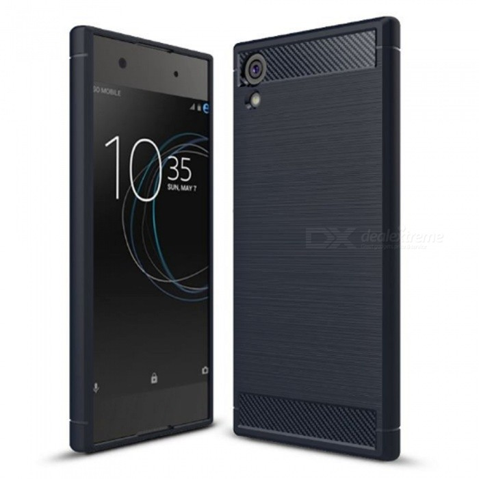 Naxtop Wire Drawing Carbon Fiber Textured TPU Brushed Finish Soft Phone Back Cover Case For Sony Xperia XA1 Ultra - BlueTPU Cases<br>ColorBlueModelN/AMaterialTPUQuantity1 pieceShade Of ColorBlueCompatible ModelsSony Xperia XA1 UltraPacking List1 x Case<br>