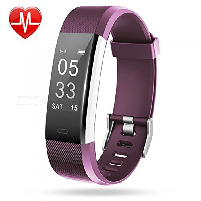 Measy ID115Plus Smart Bracelet with Heart Rate Monitor, Activity Tracker, GPS Tracker, Step Counter, Sleep Monitor - PurpleSmart Bracelets<br>ColorPurpleModelID115PlusQuantity1 setMaterialPC + TPEShade Of ColorPurpleWater-proofIP67Bluetooth VersionBluetooth V4.0Touch Screen TypeOthers,OLEDCompatible OSAndroid 4.4 and iOS 7.1 or aboveBattery Capacity65 mAhBattery TypeLi-polymer batteryStandby Time5~10 daysPacking List1 x Smart Wristband 1 x User manual<br>
