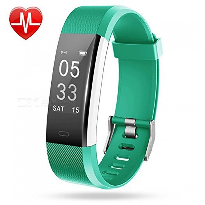 Measy ID115Plus Smart Bracelet with Heart Rate Monitor, Activity Tracker, GPS Tracker, Step Counter, Sleep Monitor - GreenSmart Bracelets<br>ColorGreenModelID115PlusQuantity1 setMaterialPC + TPEShade Of ColorGreenWater-proofIP67Bluetooth VersionBluetooth V4.0Touch Screen TypeOthers,OLEDCompatible OSAndroid 4.4 and iOS 7.1 or aboveBattery Capacity65 mAhBattery TypeLi-polymer batteryStandby Time5~10 daysPacking List1 x Smart Wristband 1 x User manual<br>