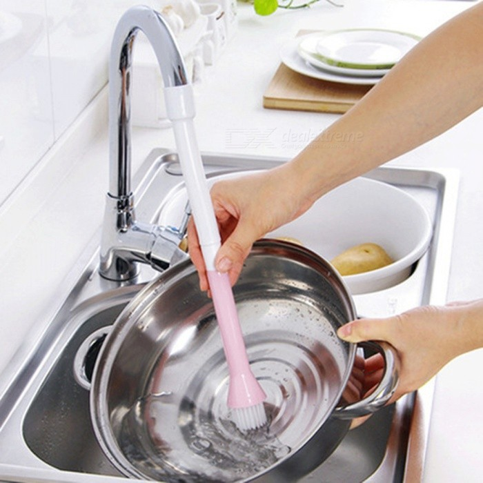 Multi-functional Water Sink Faucet Cleaning Brush for Dishes Pot WashingKitchen Gadgets<br>ColorPinkModel011MaterialPlasticQuantity1 piecePacking List1 x Cleaning Brush<br>