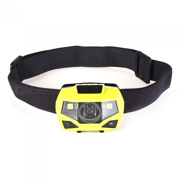 DT-7607 Outdoor USB Charging Waterproof Super Bright Light Induction Fishing LED Headlight - Yellow