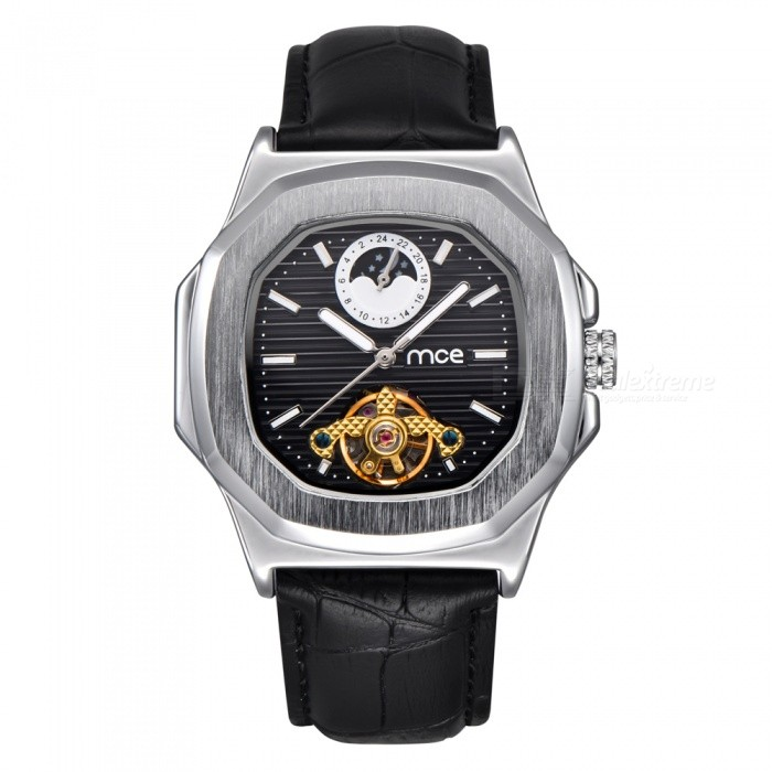 MCE-Unisex-High-End-Mechanical-Watch-with-Leather-Strap