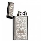 HONEST-USB-Rechargeable-Windproof-Coil-Slim-Lighter-with-USB-Charging-Cable-and-Gift-Box-White