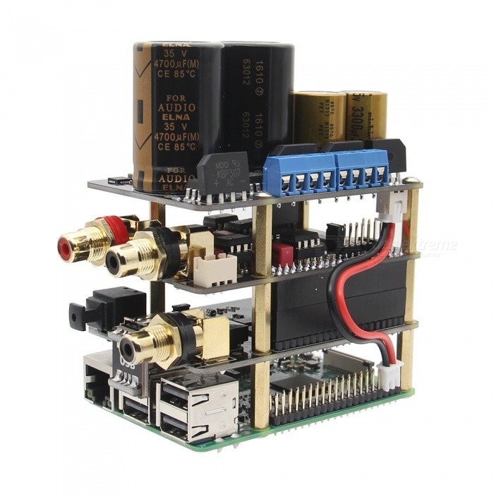 Geekworm Raspberry Pi X10 HIFI Audio Kit-B (X10-DAC Board + X10-I2S Board + X10-PWR Power Supply Board)