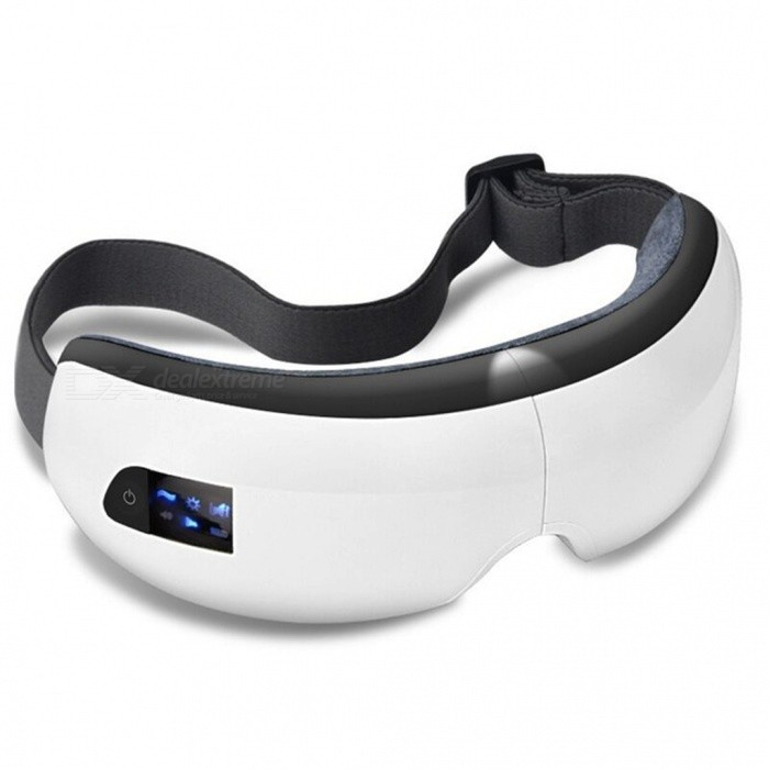 Portab;e Wireless Charging Bluetooth Eye Massager - WhiteRelax and Massagers<br>ColorWhiteModelAM-002MaterialABSQuantity1 setShade Of ColorWhiteMassager PartEyesPrinciple of MassagePressure heatingMassage ManipulationPressure massageControl ModeBluetooth linkNumber of Massage Heads2 piecesThermotherapy FunctionYesTiming FunctionNoPower SupplyOthers,Lithium batteryPower AdapterOthers,USBRate Voltage3.7VPower3 WCertificationCEPacking List1 x Massager1 x USB charging cable1 x Instruction<br>