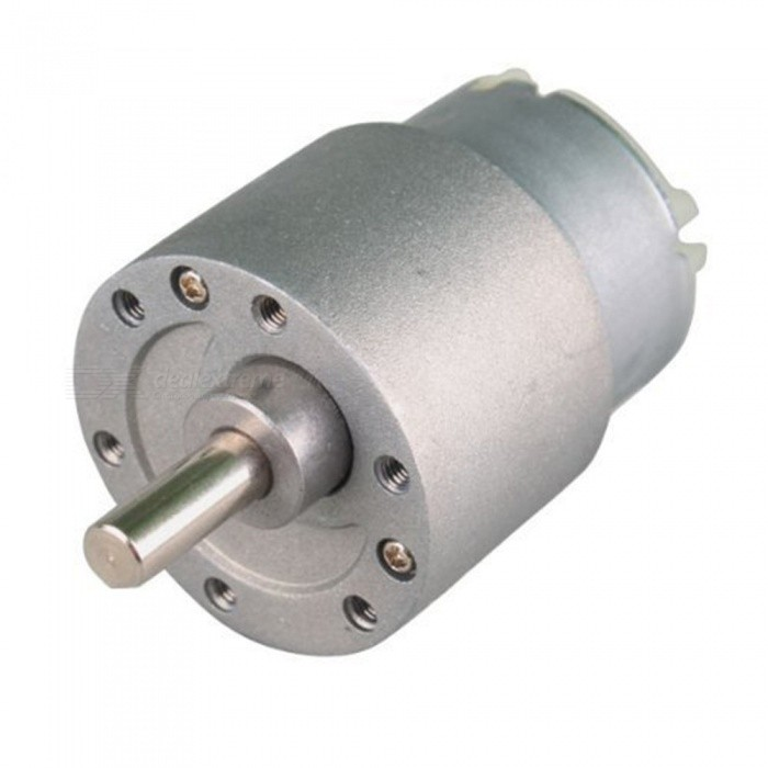 YENISEI 37mm 6V 30RPM Electric Mini Geared Box DC Motor DIY High TorqueMotors<br>ColorSilver (30RPM)Model37GBQuantity1 pieceMaterialABS + steelRate VoltageDC6VPower RangeDC6VRevolutions Per Minute (RPM)30Working Current0.07 AWorking Temperature-10 - 60 ?English Manual / SpecNoDownload Link   noCertificationROHSOther FeaturesMounting Screw Hole Diameter : 2.6mm/0.1Packing List1 x Electric Mini Geared Box DC Motor<br>