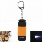 Mini USB Rechargeable Portable Outdoor LED Flashlight Torch for Camping / Travel - Orange