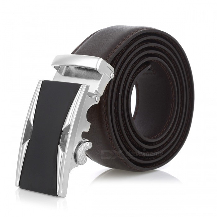 Stylish Leather Belt with Automatic Buckle for Men - Silver + BrownBelts and Buckles<br>ColorBrownQuantity1 setShade Of ColorBrownMaterialLeatherGenderMenSuitable forAdultsBelt Length120 cmBelt Width3.5 cmPacking List1 x Belt<br>