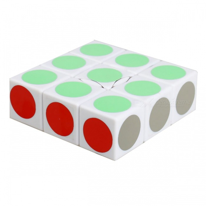 QiYi LanLan 1x3x3 Speed Smooth Magic Cube, Finger Puzzle Toy 19x57x57mm - WhiteMagic IQ Cubes<br>ColorWhite BottomMaterialABSQuantity1 pieceTypeOthers,1x3x3Suitable Age 3-4 years,5-7 years,8-11 years,12-15 years,Grown upsPacking List1 x Magic Cube<br>