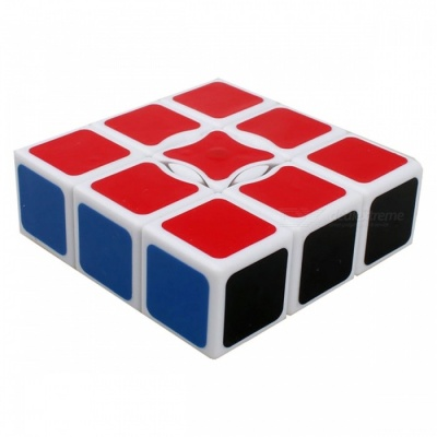 QiYi 1x3x3 Speed Smooth Magic Cube, Finger Puzzle Toy 19x57x57mm - White