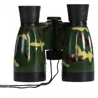 OJADE 6X 30mm Outdoor Plastic Toy Binocular, High Powered Telescope Gift, Party Favors for Kids - Army Green