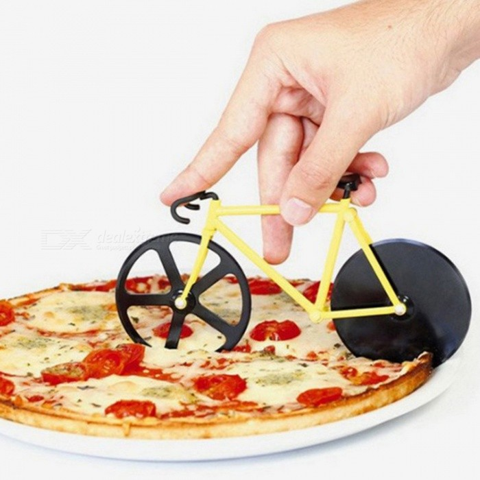 Creative Bicycle Style Pizza Knife Stainless Steel Wheel Pizza Cutter Kitchen Tool