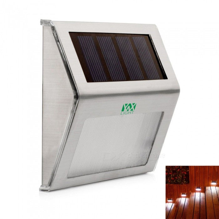 YWXLight Outdoor LED Solar Powered Energy Light, Sun Power Waterproof Path Street Stair Wall Lamp