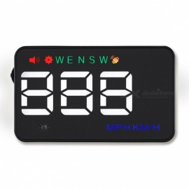 """Universal A5 3"""" Auto GPS HUD Car Head Up Display with Speedometer, Dashboard Windshield Projector, Overspeed Warning"""