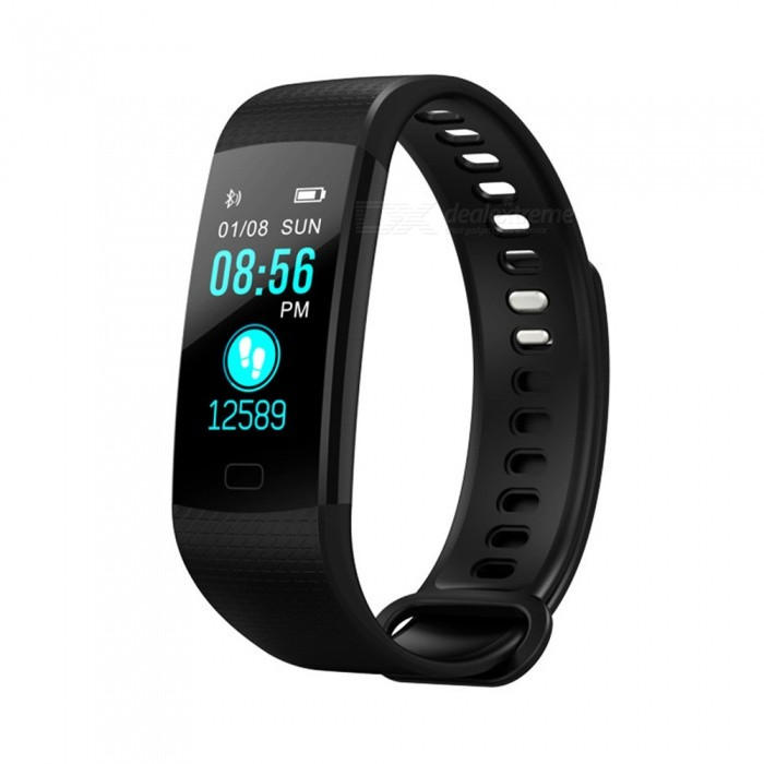 Y5 Color Screen Smart Bluetooth Bracelet with Heart Rate, Blood Pressure / Oxygen, Real-Time Monitoring - BlackSmart Bracelets<br>ColorBlackModelY5Quantity1 pieceMaterialTPUWater-proofIP67Bluetooth VersionBluetooth V4.0Touch Screen TypeTFTOperating SystemAndroid 4.4Compatible OSAndroid IOSBattery Capacity90 mAhBattery TypeLi-ion batteryStandby Time15 daysPacking List1 x User instruction1 x Smart bracelet1 x Packaging<br>