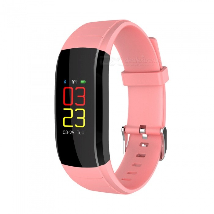 UP-X Color Screen Fitsness Smart Bracelet w/ Dynamic Heart Rate Blood Pressure Monitoring, Calls, Message Reminder - PinkSmart Bracelets<br>ColorPinkModelUPXQuantity1 piecesMaterialTPUWater-proofIP67Bluetooth VersionBluetooth V4.0Touch Screen TypeIPSOperating SystemAndroid 4.4,iOSCompatible OSAndroid  IOSBattery Capacity80 mAhBattery TypeLi-ion batteryStandby Time20 daysPacking List1 x Smart Wristband1 x Charging Cable1 x User Manual<br>