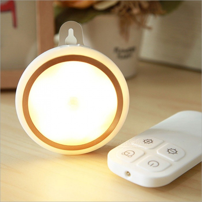 P TOP Portable Battery Powered Wireless Remote Control LED Night Light,  Cabinet Closet Light Lamp   White