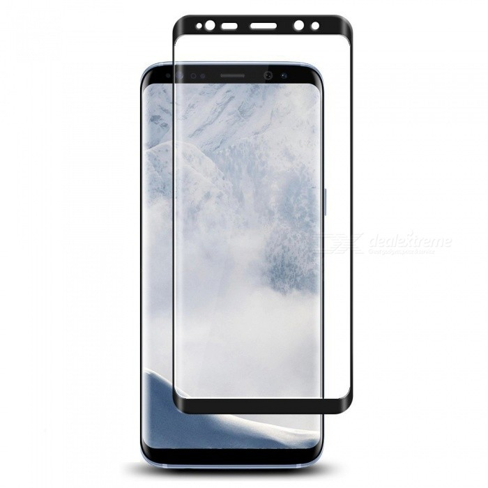 Buy Naxtop Full Screen Protector Tempered Glass for Samsung Galaxy S9+ - Black with Litecoins with Free Shipping on Gipsybee.com