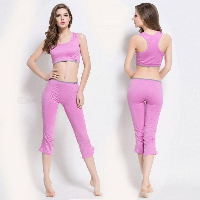 Fanshimite SW-C011 Workout Fitness Yoga Clothes Sportswear Aerobic Exercise Clothing Set - SSizeSModelSW-C011Quantity1 pieceTypeWorkout clothesNameYoga clothesGenderWomenPacking List1 x Top1 x Pants<br>