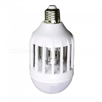 15W 110V E27 3-Mode Upgraded Lighting Anti-mosquito Spherical Bulb Lamp - White