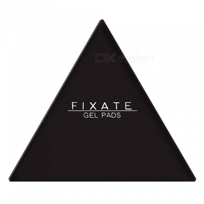 Triangle Shaped Malleable Non-slip Sticky Silicone Gel Pad for Car Fridge Kitchen Cupboard - Black