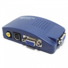 VGA-to-CVBS-S-Video-PC-to-TV-Video-1080P-HD-Converter-Adapter-Blue