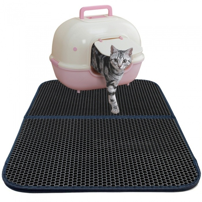 Double-Layer Honeycomb Cat Litter Trapper Mat Non-toxic EVA Mat - grey for sale in Bitcoin, Litecoin, Ethereum, Bitcoin Cash with the best price and Free Shipping on Gipsybee.com