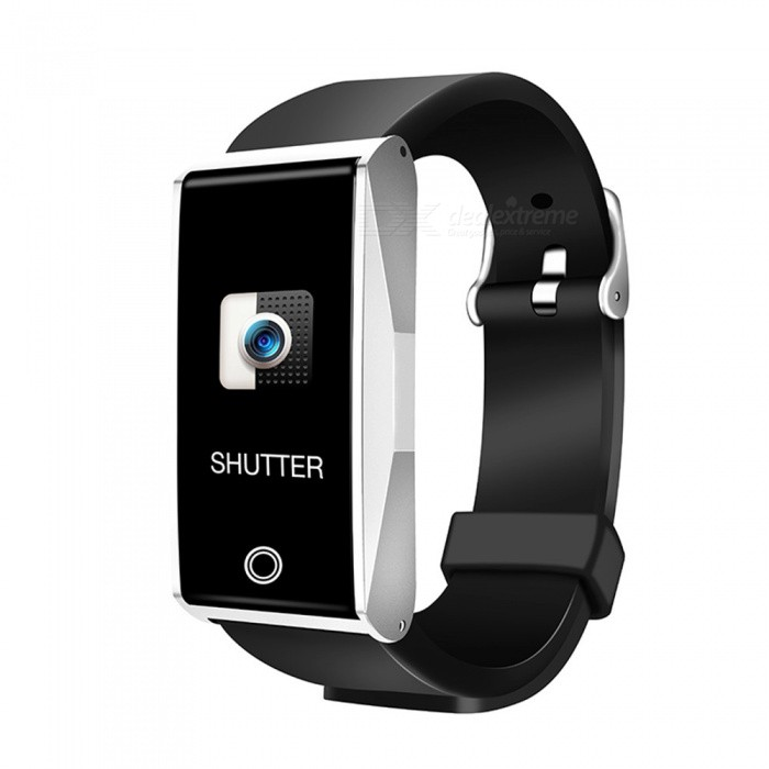 Mate1 Color Screen Intelligent Bluetooth Wristband with Heart Rate Monitor, Blood Pressure / Oxygen Monitoring - SilverSmart Bracelets<br>ColorSilverModelMate1Quantity1 pieceMaterialSilica gelWater-proofIP67Bluetooth VersionBluetooth V4.0Touch Screen TypeTFTOperating SystemAndroid 4.4,iOSCompatible OSAndroid  IOSBattery Capacity90 mAhBattery TypeLi-ion batteryStandby Time5 daysPacking List1 x User instruction1 x Smart Bracelet1 x Power adapter<br>
